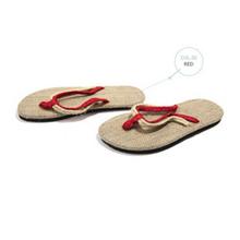 Nuovo 2019 di Modo di Canapa Pantofole Sandali Unisex Coppie Sandali Antiscivolo Resistente di Paglia di Lino Biancheria Per La Casa Pantofola(China)