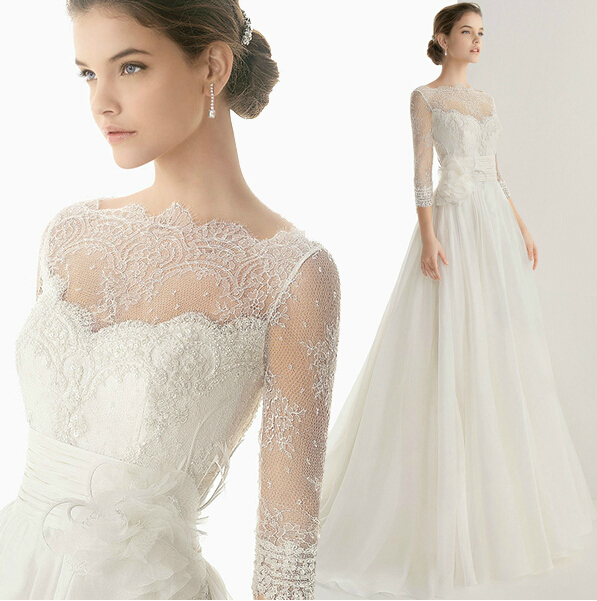 High Quality Wedding Dress Luxury French Style 2015 Winter