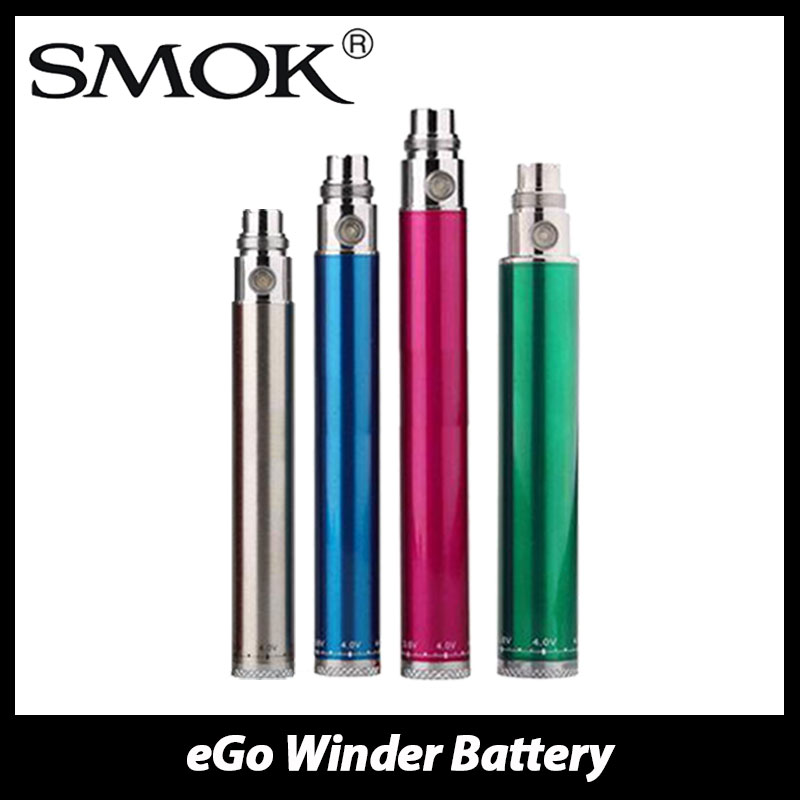 100% Original SMOK EGo Winder VV Battery 650mah/900mAh/1100mAh/ 1300mAh Spinner Variable Voltage Battery Electronic Cigarette