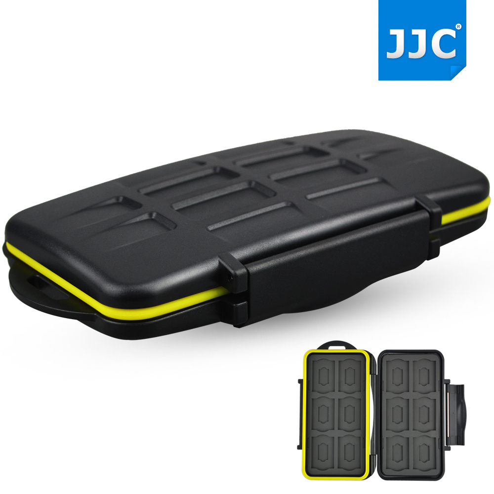 JJC Water-resistant Anti-shock SD Micro SD Card Case Camera Memory Card Bag Holder Storage Cover For 12 SD +12 Micro SD Cards(China (Mainland))