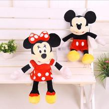 1 Pcs 40cm Hot Sale Lovely Mickey Mouse And Minnie Mouse Stuffed Soft Plush Toys High Quality Gifts(China (Mainland))