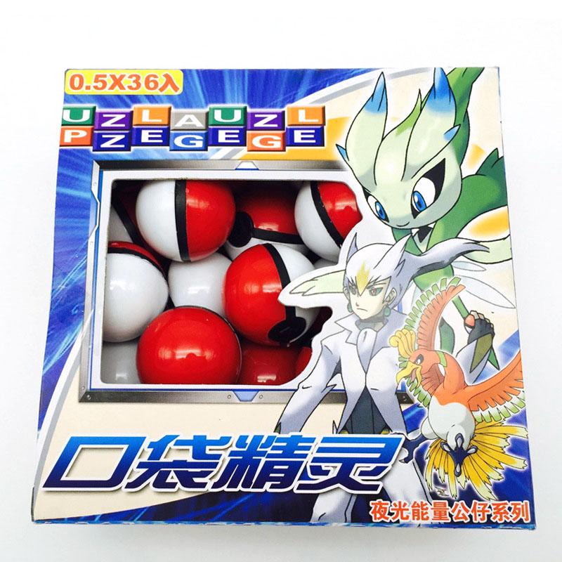 36Pcs Lot font b Anime b font classic Action Figures Pokemon ball Fairy Ball Super Master