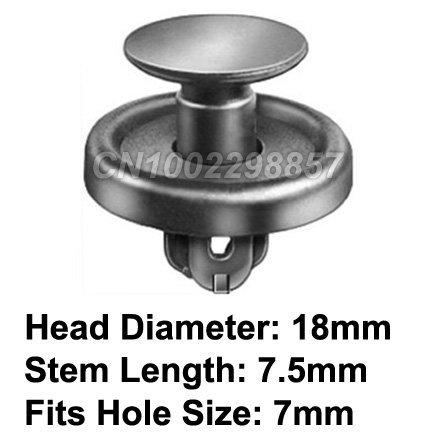 100 Pcs/Lot Front Fender Push-Type Retainer Clip Fit For Toyota Lexus GM Pontiac Subaru Celica Cororlla Matrix Solara Vibe 99-On