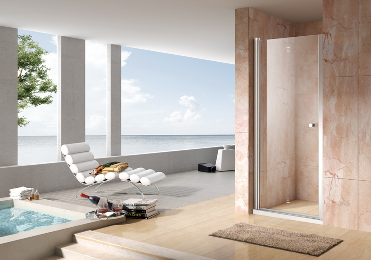 700x1950mm Pivot Screen Sliding Tempered Glass Bathroom Shower Enclosure Door DY-PG151(China (Mainland))