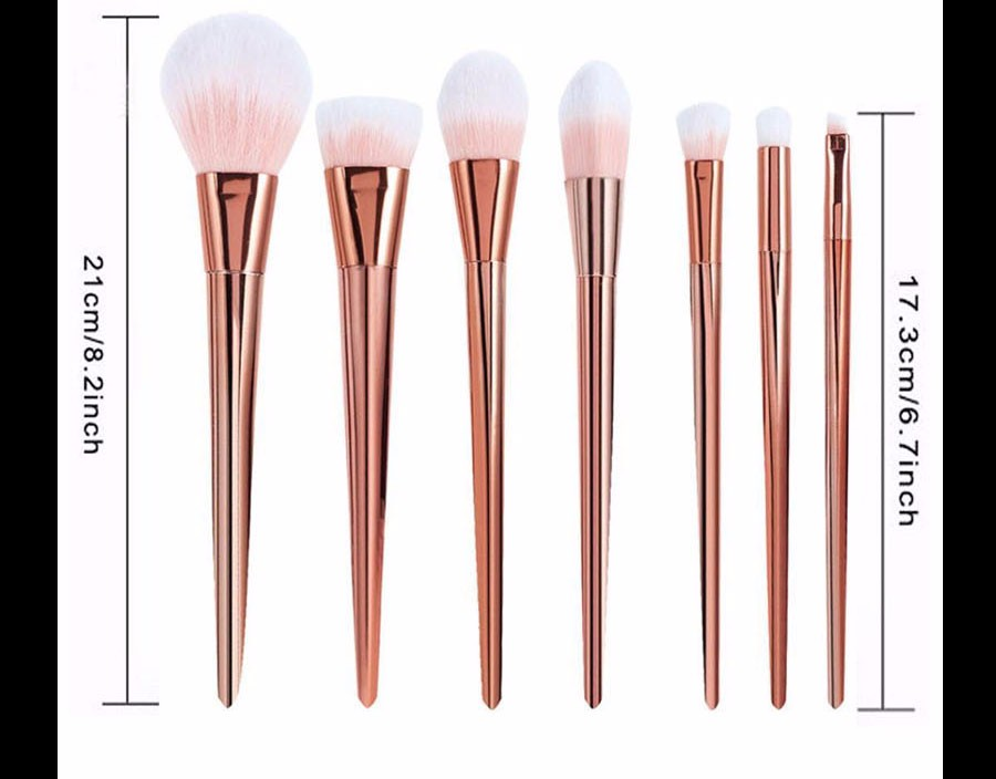 4 Make up Brushes Real Techniques Silver 7 pcs
