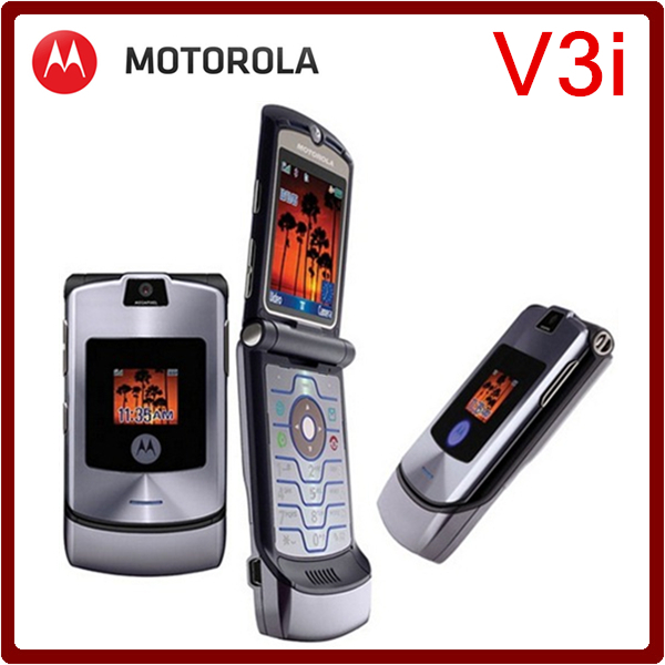 V3i Original unlocked Motorola v3i mobile phone All GSM Carrier work AT&T T-Mobile Russian Keyboard Support one year warranty(China (Mainland))
