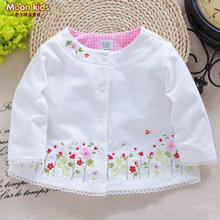 free shipping 2015  spring and autumn  cotton top baby girls princess cardigan coat
