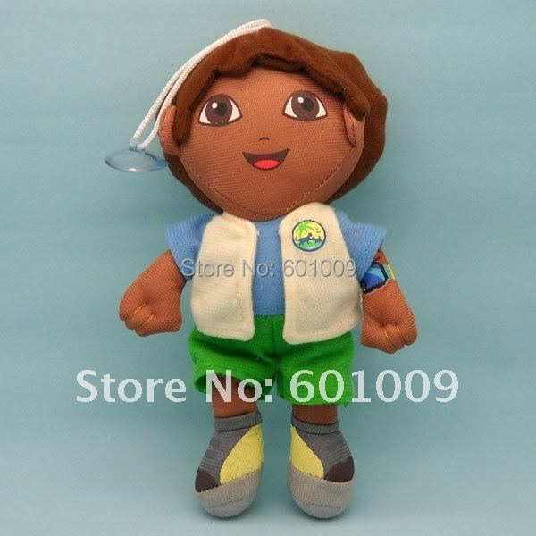 Free Shipping Dora the Explorer Go Diego Go Plush Dolls Toy New Wholesale and Retail(China (Mainland))