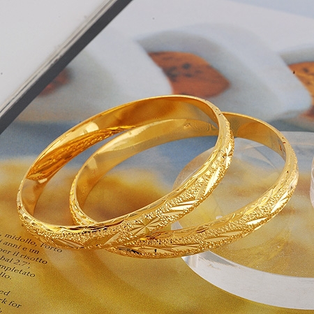 """NEVER FADING! 7"""" 8mm 25g 24K YELLOW GOLD PLATED SOLID FILL WOMEN OPEN BANGLE(China (Mainland))"""