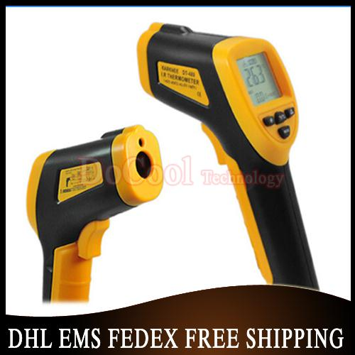 50pcs/lot Non-Contact IR Laser -42~480 degree Infrared Digital Thermometer LCD with Back Light DT-480 Free shipping(China (Mainland))