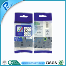 100% compatible label tape tze tz tape Tze131 tz131 12mm*8m black on clear for P-touch Ribbon label maker