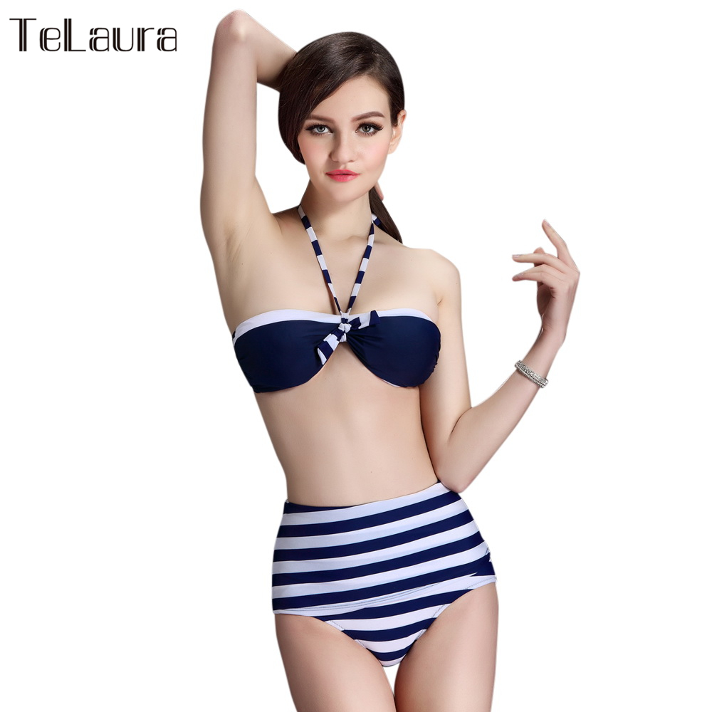 High Waist Bikini Set Women Ladies Swimwear Push Up ...