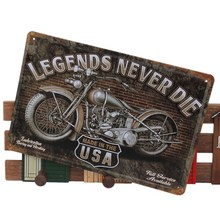 Legends Never Die Chic Motorcycle Metal Tin Sign Bar Pub Tavern Garage Plaque(China (Mainland))