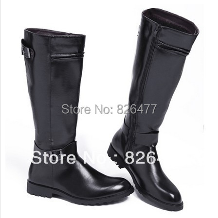Hot Sales 2014 fashion motorcycle boots men knee high botas European version long winter mens shoes male boot army - Fashion Life Pavilion store