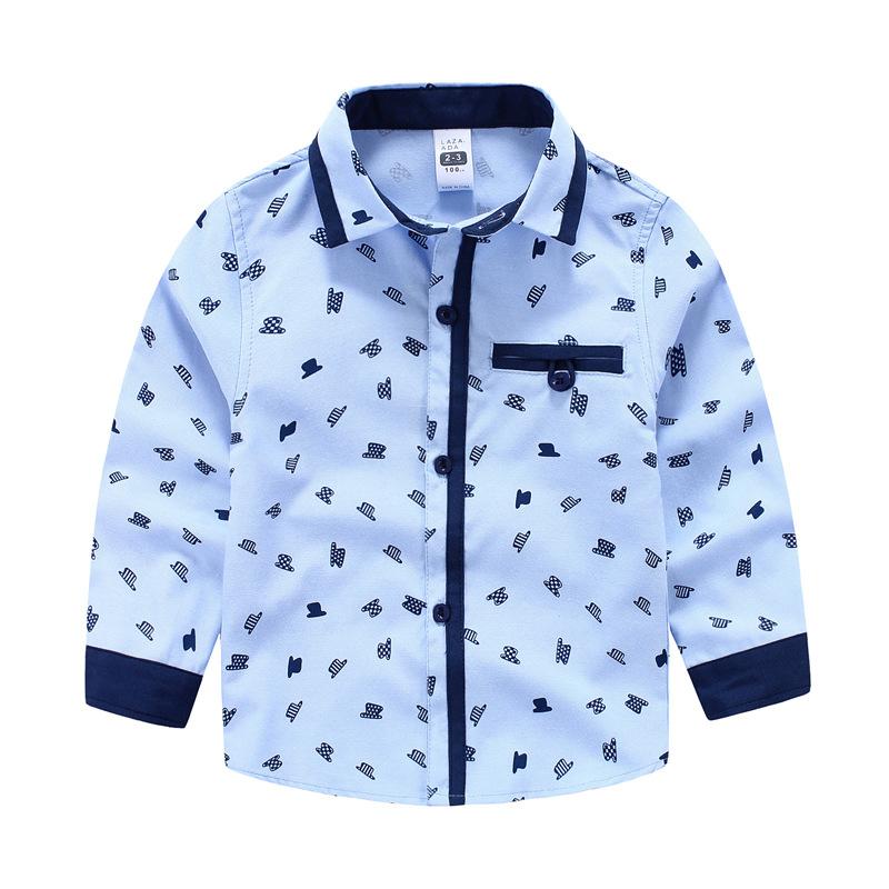 2016 Hot Childrens boy Jazz hats printing long sleeve shirt wholesale<br><br>Aliexpress