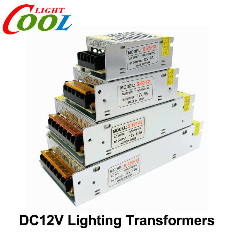 Lighting Transformers DC12V High Quality LED Lights Driver for LED Strip Power Supply 60W 100W 200W 300W.(China (Mainland))