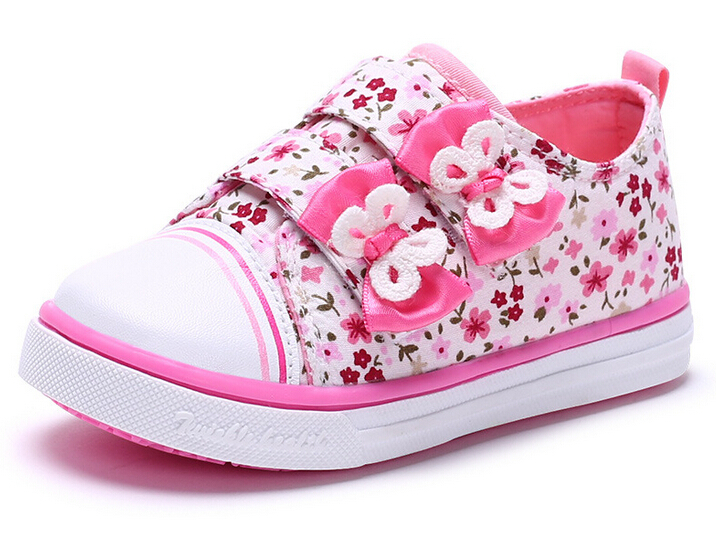 2015 summer spring Canvas children's shoes star fashion sneakers kids velcro casual shoes for girls boys rose green red(China (Mainland))