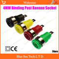 20pcs High Quality 4MM Binding Post Banana Socket jack for Multimeter Oscilloscope instrument High voltage panel