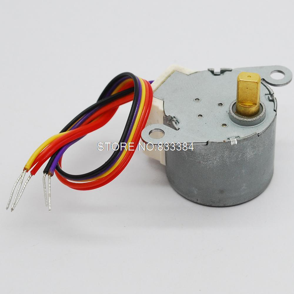 2pcs 12V DC 4 phase 5 wire stepper motor Stepping motor diameter 24mm(China (Mainland))