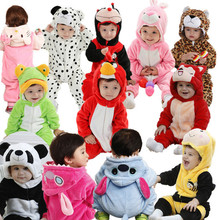 new 2014 infant baby/kid/children cartoon long sleeve winter rompers, boys/girls animal coverall jumpsuits,baby wear clothes