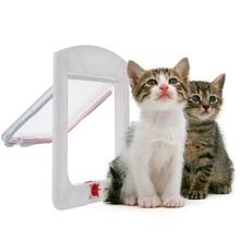 2015  new Safe Pet Cat Small Dog 4-Way Locking Lockable Door Flap Catflap G01073(China (Mainland))