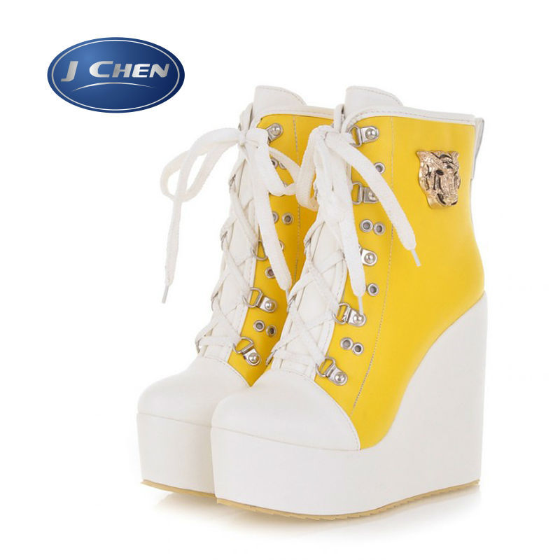 Free shipping Size 31 32 33 40 41 yards female boots 42 and 43 2014 new wedge heel Martin boots and waterproof boots<br><br>Aliexpress