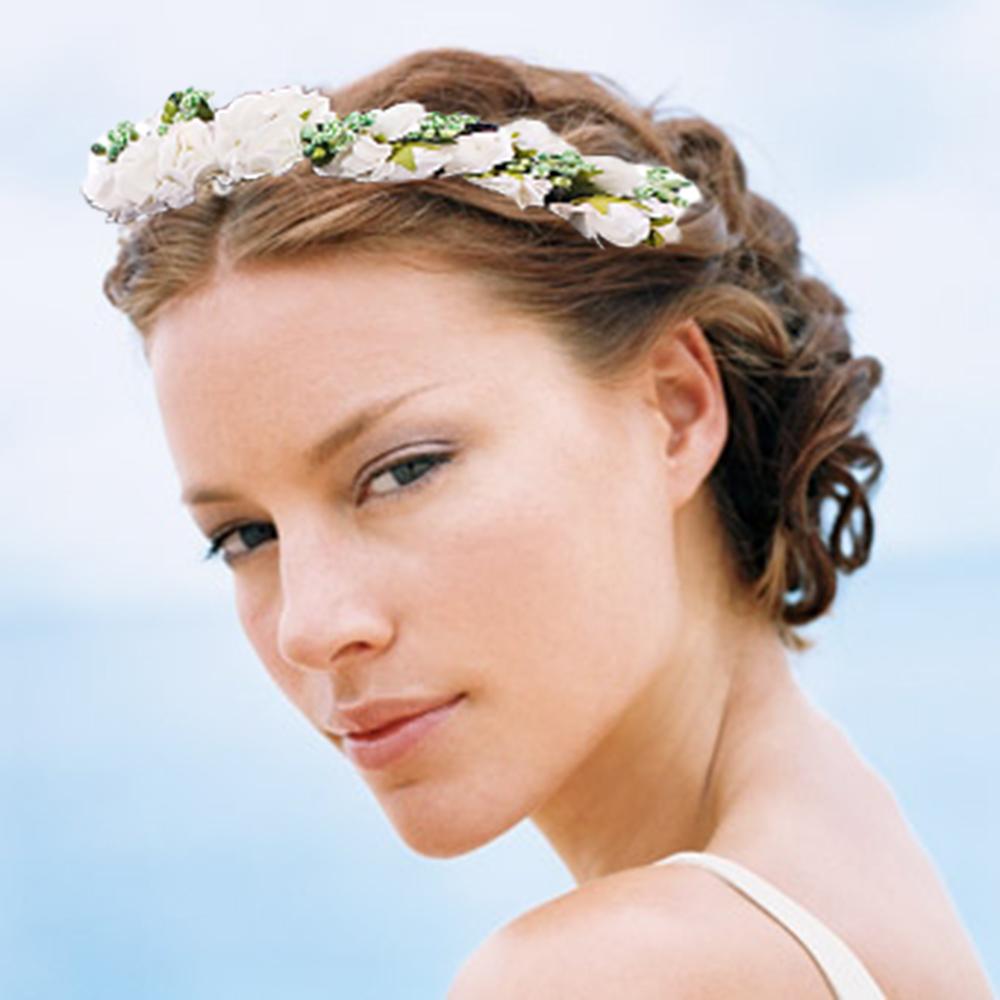 Свадебные прически в греческом стиле на короткие волосы с челкой