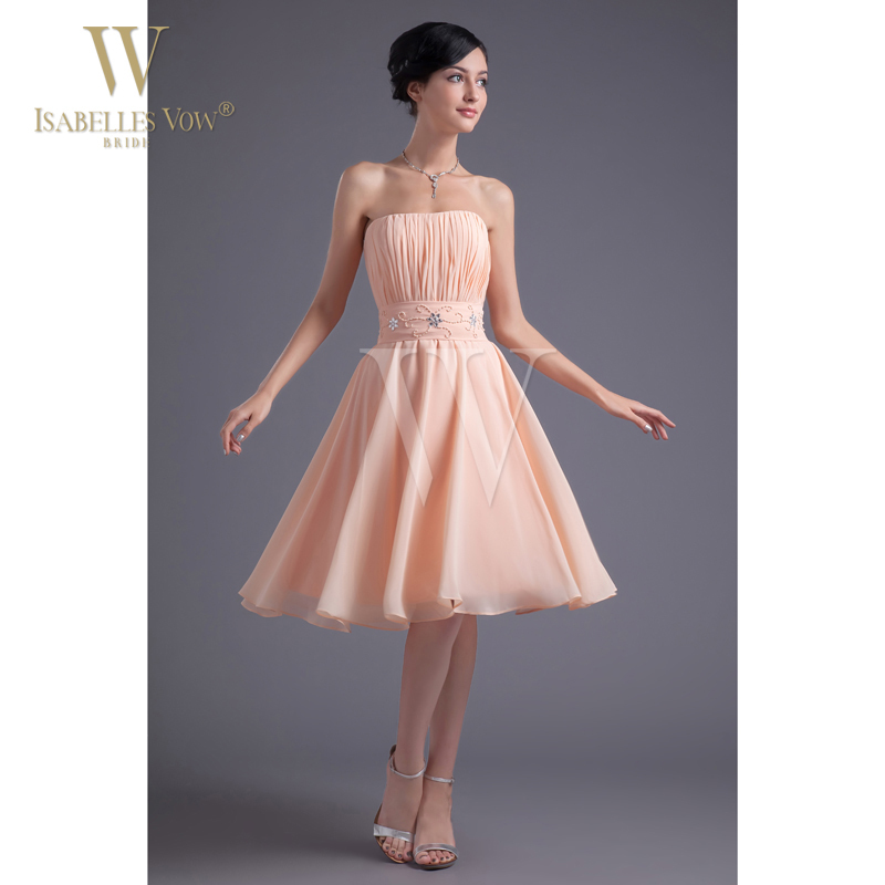 Summer Sexy Lady Bridesmaid Dress Peachpuff Light Orange ...