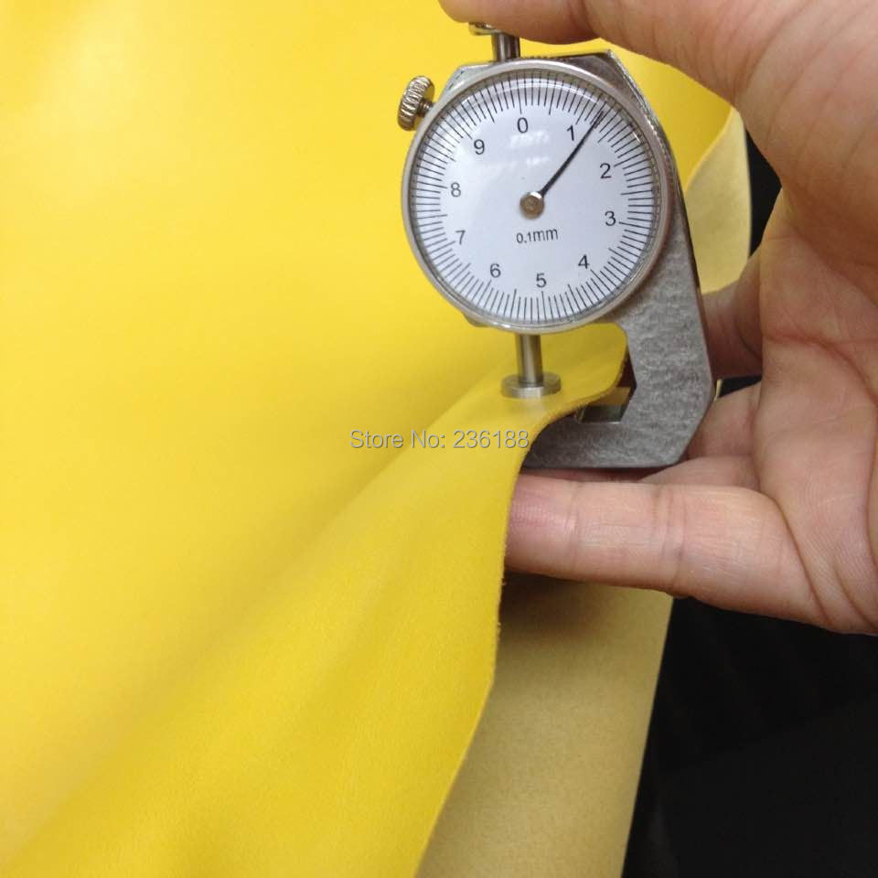 Smooth Yellow Genuine Goat Skin Leather Fabric 0.9-1.2mm for shoes/purse,Free Shipping(China (Mainland))