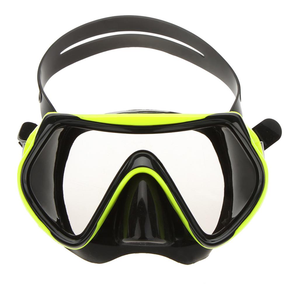 VILISUN Kids Scuba Diving Mask Underwater Antifog Yellow And Black Diving Glasses Children Adjust Snorkel Diving Equipment(China (Mainland))