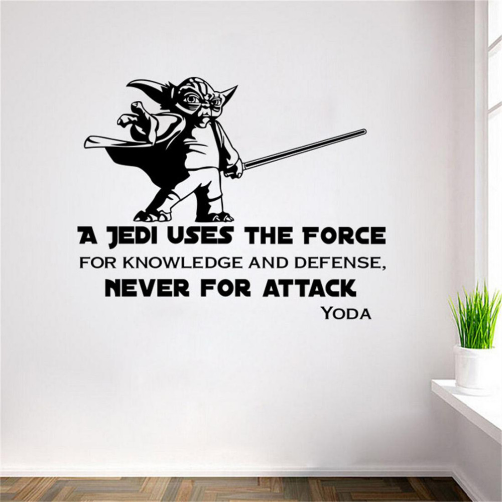 star wars yoda death star charature wall stickers decals