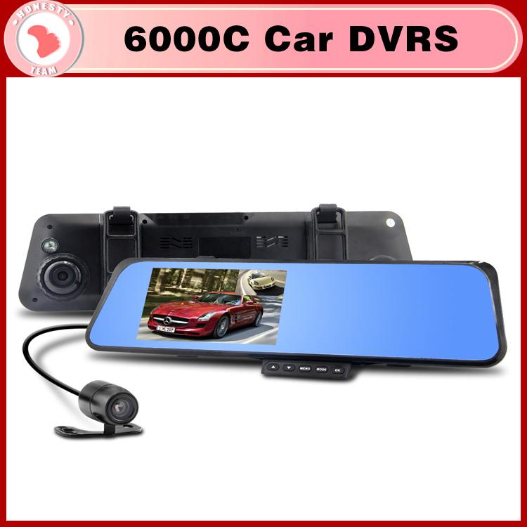 Автомобильный видеорегистратор OEM 6000C DVR 1080P 4.3'tft LCD g видеорегистратор oem k6000 100 log0