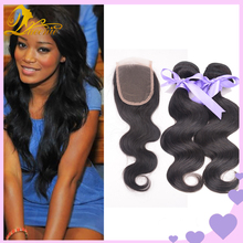 Grade 8A Peruvian Virgin Hair With Closure 3 Bundles Queen Hair Products With Closure Bundle Eurasian Virgin Hair With Closure