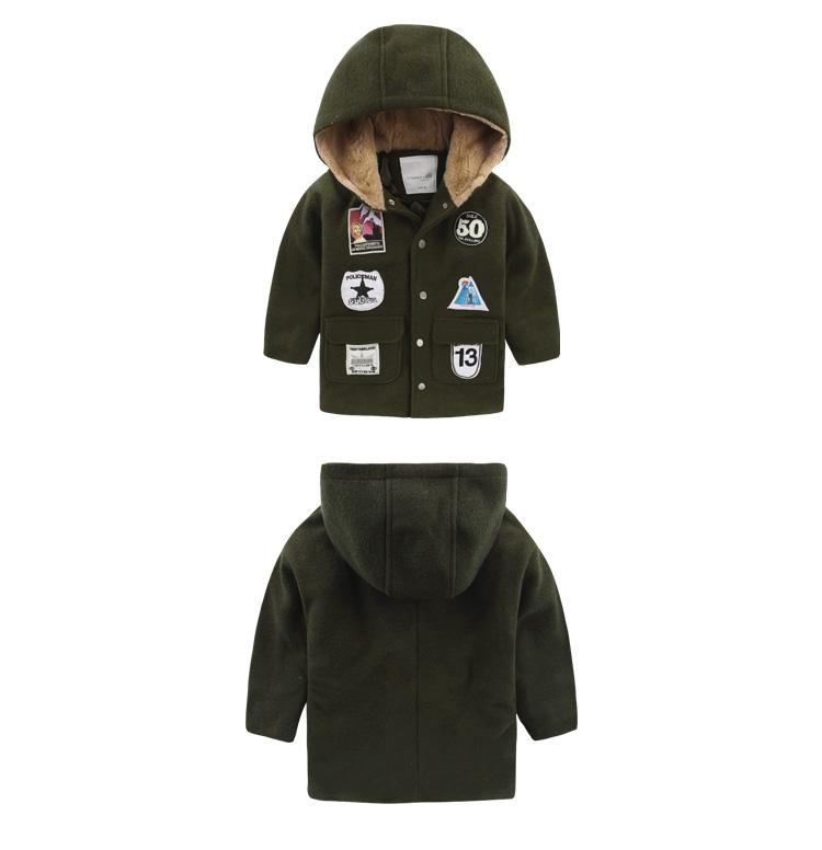 Скидки на Мальчик ткань хлопок проложенный пальто клип 2016 новый зимние дети ребенок ребенок пальто U5625