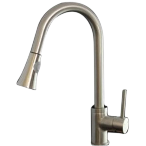 Фотография EWS!Faucetland 003002333 Kitchen Sink Faucet Pull Out Down Spray Single Handle Brushed Nickel