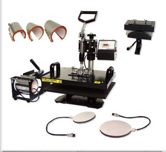 8 in 1 combo heat press machine for t shirts mugs caps trays