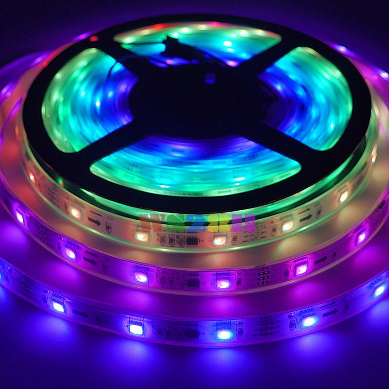5M 30LEDs/M WS2811 White PCB Waterproof IP68 150 5050 RGB SMD Pixel Digital Dream Color Flexible LED Strip Light Lamps DC12V<br><br>Aliexpress