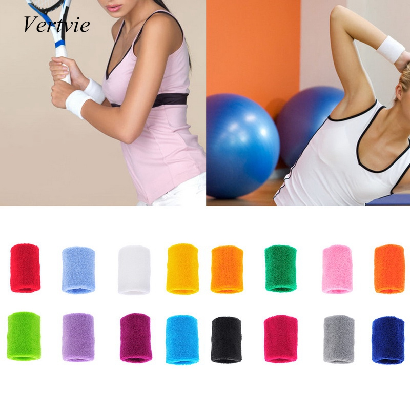 Cotton Tovel Wrist Band Wristguard Sweat Absorbing Belt Support Basketball Tennis And Other Sports Color Available 1PC