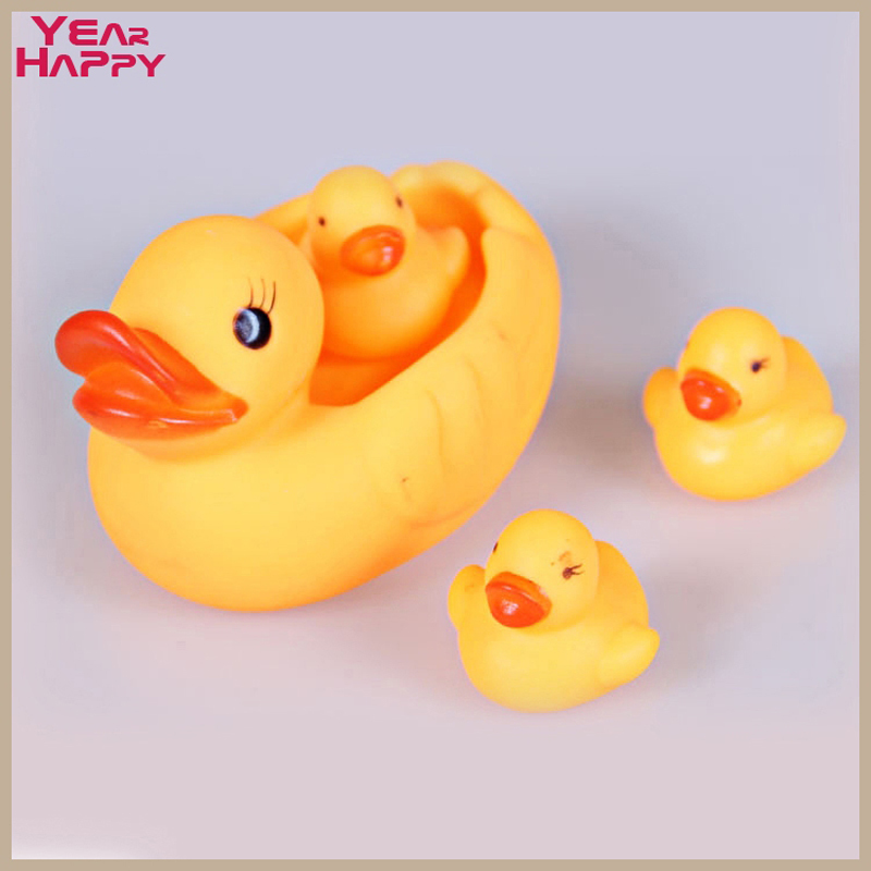 Children's swimming essential Swimming baby toys small yellow duck occurred ducklings swimming bath toy duck bath(China (Mainland))