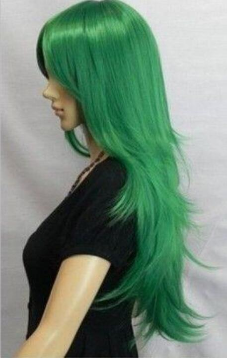 Hat Resista nt Cosplay party TJ****Beautiful fashion newly listed companies have a new vertical green wigs @.35 @(China (Mainland))