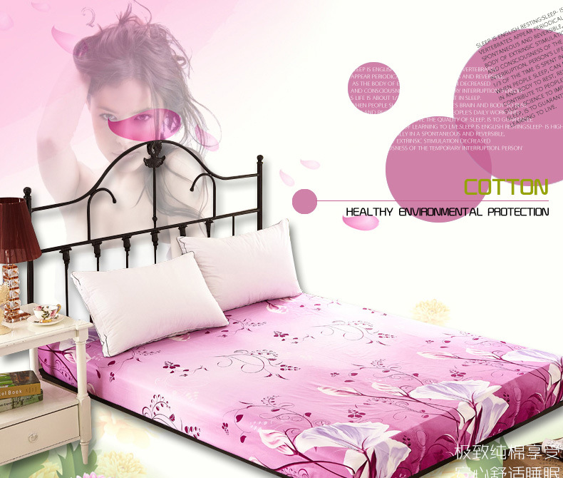 100 cotton oil printing Good quality/home textile/sunflowers 3D Fitted sheet 150*200cm 180*200cm(China (Mainland))