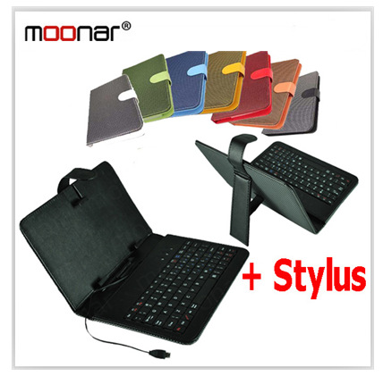 """Colourful Woven Pattern 7"""" MK Keyboard Smart Cover Case For 7 inch Tablet PC With Micro USB Keyboard Stylus Pen DA0170 -75#M1(China (Mainland))"""