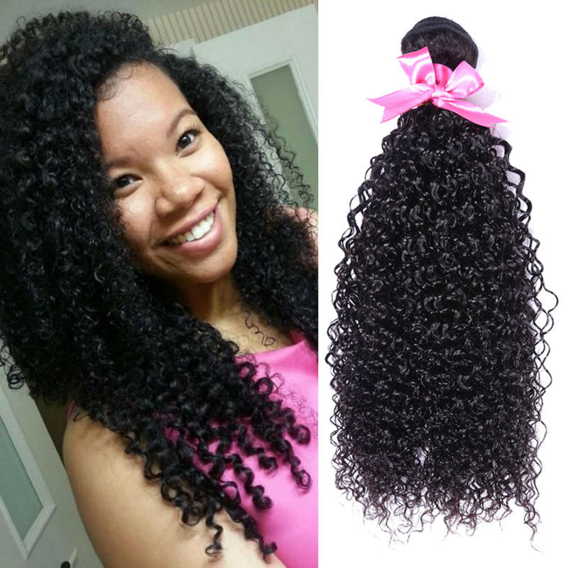 Queen hair products brazilian kinky curly virgin hair human hair weave afro kinky curly hair 3pcs lot free shipping mixed length