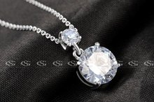 G S Brand Christmas Gift Simple Crystal Necklace Jewelry Fashion Necklaces For Women 2014 Statement Necklace