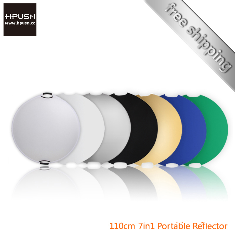 """Hpusn 7in1 42"""" 110cm handheld multi collapsible photograph studio light reflector Disc(China (Mainland))"""
