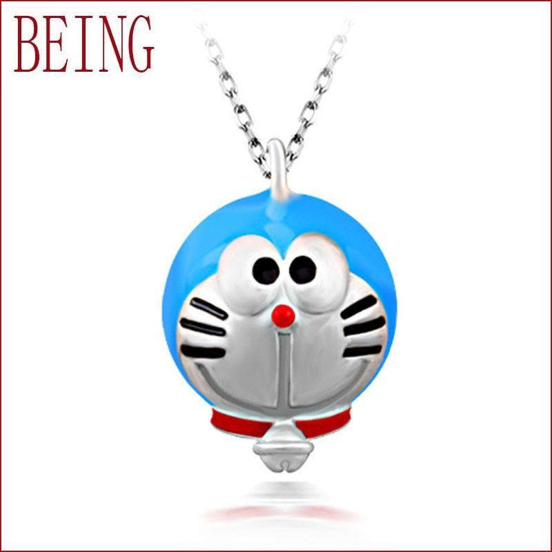 2016 new fashion women's jewelry cartoon Doraemon A Dream sterling silver pendant necklace pendant jewelry wholesale children(China (Mainland))
