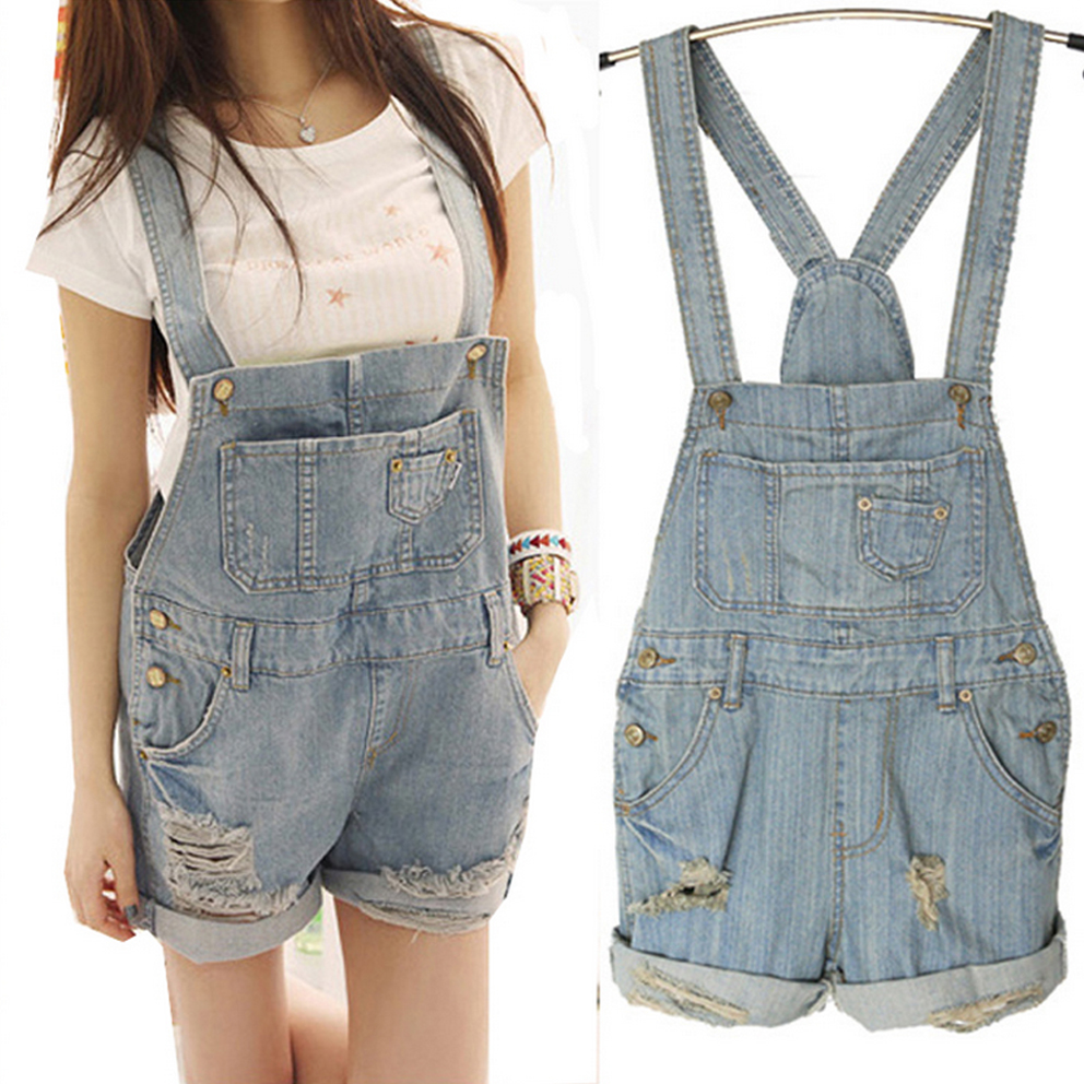 Womens Denim Short Overalls Promotion-Shop for Promotional Womens ...