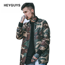 HEYGUYS 2017 high street Europe street camo Jacket Hip Hop Suit Pullover Winter Jacket Men Coat fashion men Casual jacekts(China (Mainland))