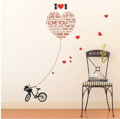 50 70cm creative cartoon love cat marriage bike and love for 70 bike decoration