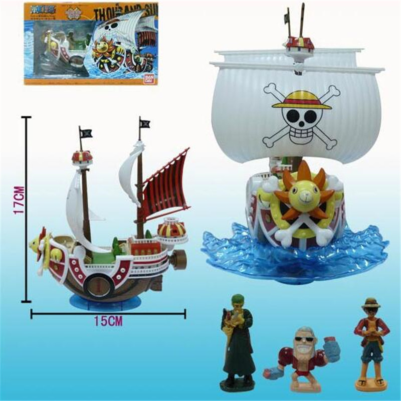 New arrival Anime One Piece Thousand Sunny Pirate Ship Model Pvc Action Figure Collectible Toy 17cm best gift<br><br>Aliexpress